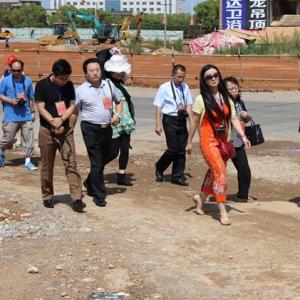 中国梦·美丽江西行 华文媒体考察丰城市商贸物流城